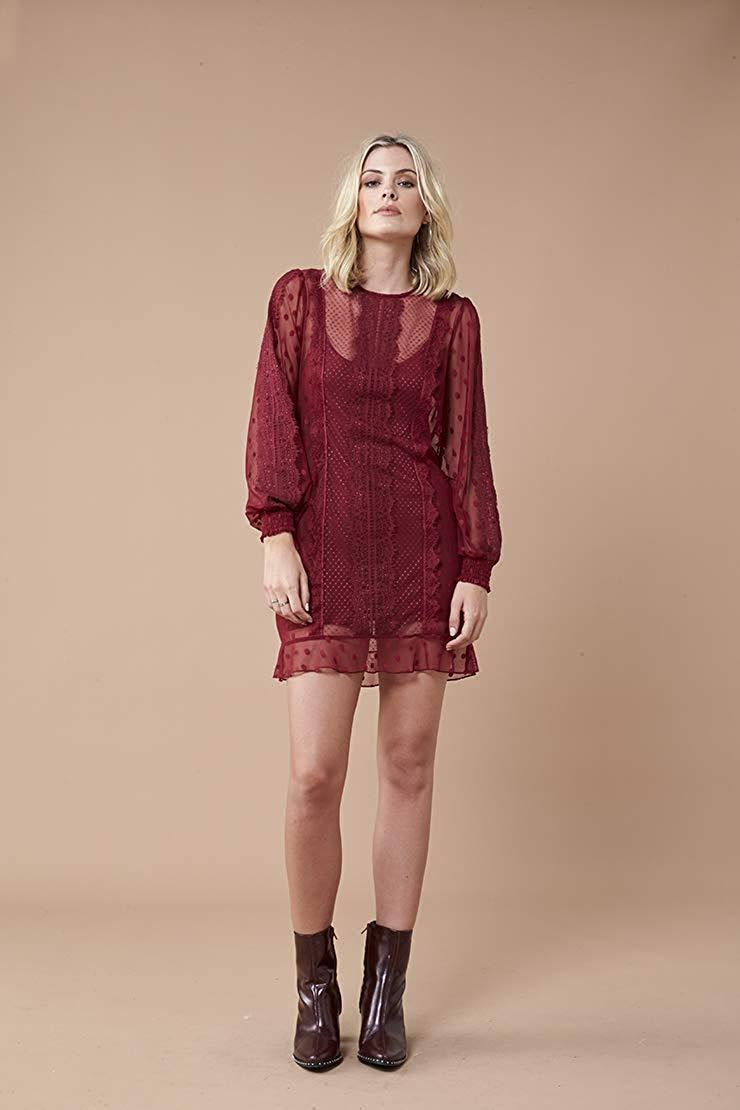 We Absolutely Think Wine Burgundy Is A Great Holiday Festive Color For Your Occasions The Lace On This Dress Also Very Beautiful